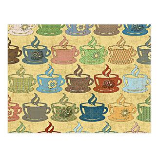 HOT COFFEE OR TEA POSTCARD