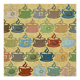 HOT COFFEE OR TEA POSTER