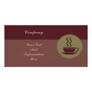 Hot Coffee Photo Card