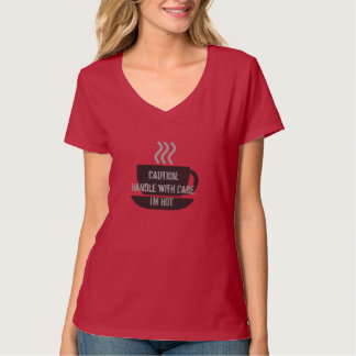 Hot Coffee Pink Tshirt Women Girl Girly