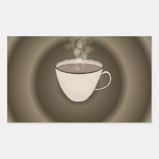 Hot Coffee Rectangular Sticker