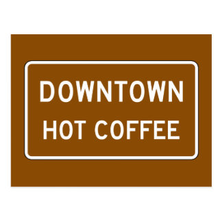 Hot Coffee, Road Marker, Mississippi, USA Postcard