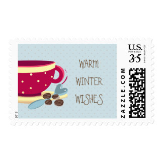 Hot Coffee Warmest Winter Wishes  Holiday stamps