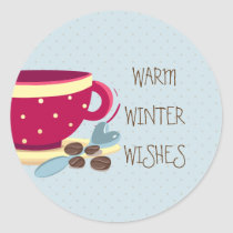 Hot Coffee Warmest Winter Wishes stickers