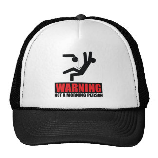 Hot Coffee Warning Not a Morning Person Trucker Hat