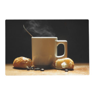 Hot Coffee with Croissant Place Mat