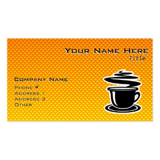 Hot Coffee; Yellow Orange Double-Sided Standard Business Cards (Pack Of 100)