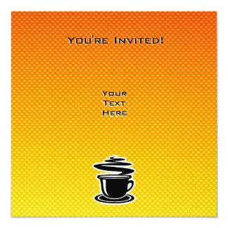 Hot Coffee; Yellow Orange Invitation
