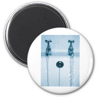 Hot & Cold Water, Bath time, Running Faucets 2 Inch Round Magnet