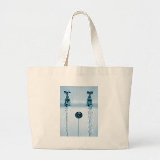Hot & Cold Water, Bath time, Running Faucets Jumbo Tote Bag