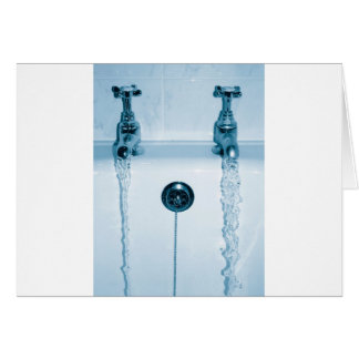 Hot & Cold Water, Bath time, Running Faucets Card