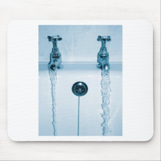 Hot & Cold Water, Bath time, Running Faucets Mousepad