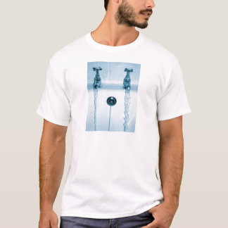 Hot & Cold Water, Bath time, Running Faucets T-Shirt