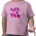 Hot Colors Heart Auntie's Valentine Tee Shirt