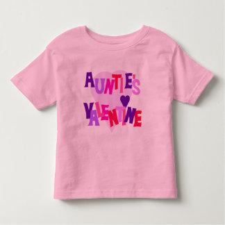 Hot Colors Heart Auntie's Valentine Toddler T-shirt
