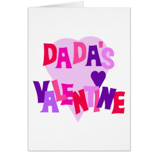 Hot Colors Heart Dada's Valentine Card