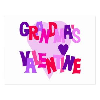Hot Colors Heart Grandma's Valentine Postcard
