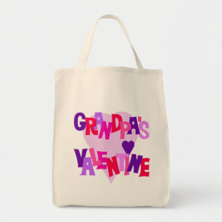 Hot Colors Heart Grandpa's Valentine Tote Bags