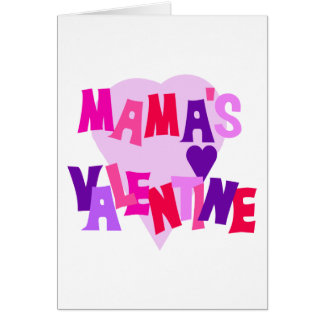 Hot Colors Heart Mama's Valentine Card