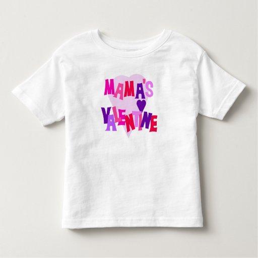 Hot Colors Heart Mama's Valentine Tee Shirt