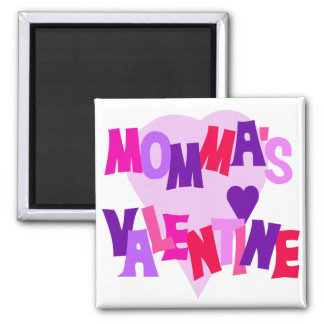 Hot Colors Heart Momma's Valentine Refrigerator Magnets
