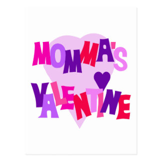 Hot Colors Heart Momma's Valentine Postcard
