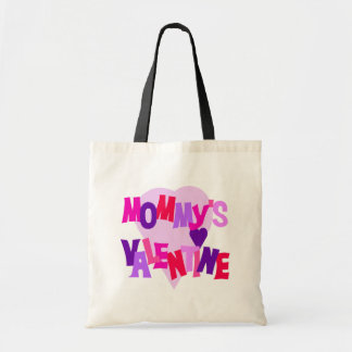 Hot Colors Heart Mommy's Valentine Budget Tote Bag