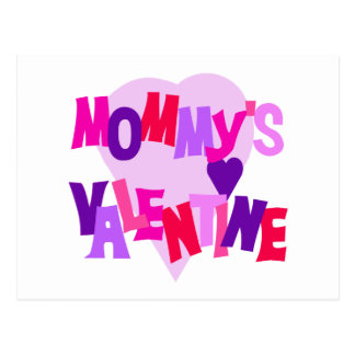 Hot Colors Heart Mommy's Valentine Postcard