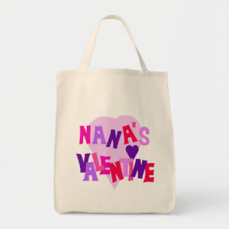 Hot Colors Heart Nana's Valentine Canvas Bag