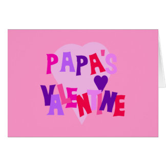 Hot Colors Heart Papa's Valentine Card