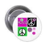 Hot Colors Peace Pins