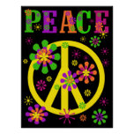Hot Colors Peace Poster