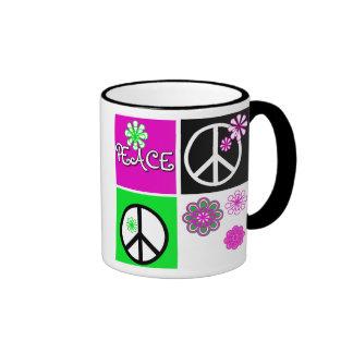 Hot Colors Peace Ringer Mug