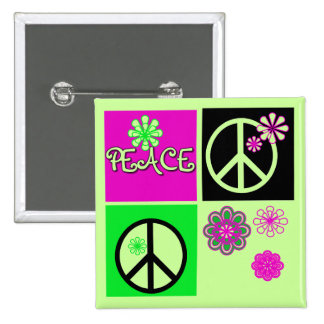 Hot Colors Peace T-shirts and Gifts Buttons