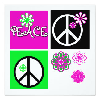 Hot Colors Peace T-shirts and Gifts Card