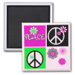 Hot Colors Peace T-shirts and Gifts Fridge Magnets