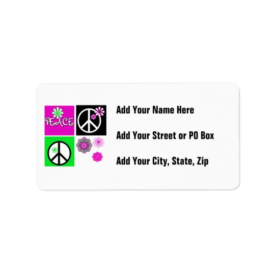 Hot Colors Peace T-shirts and Gifts Label