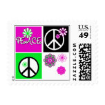 Hot Colors Peace T-shirts and Gifts Postage Stamps