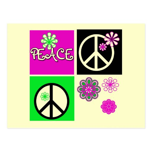 Hot Colors Peace T-shirts and Gifts Postcard