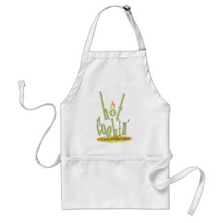 hot cookin rockstar adult apron