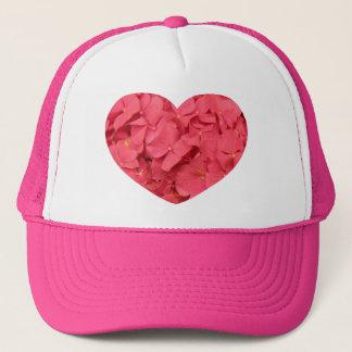 Hot Coral Pink Hydrangeas Trucker Hat