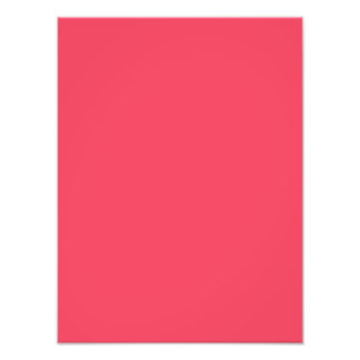 Hot Coral Pink Personalized Neon Salmon Background Photo Print