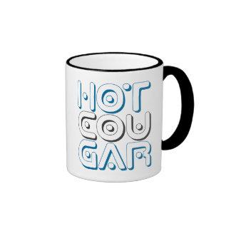 HOT COUGAR - Older Women Who Love Young Men, Blue Ringer Mug