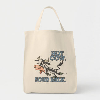 hot cow sour milk funny cartoon moo cow bags