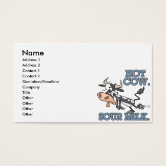 hot cow sour milk funny cartoon moo cow business card