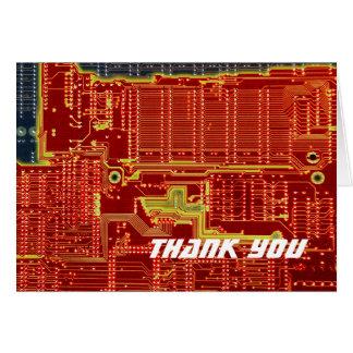 Hot CPU Meltdown thank you card