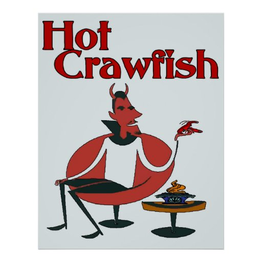 Hot Crawfish With Devil Poster