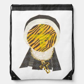 Hot Cross Bun Nun Drawstring Bag