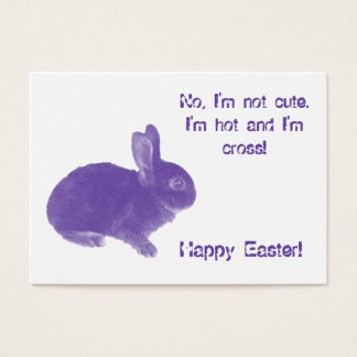 Hot Cross Bunny for Easter Business Card