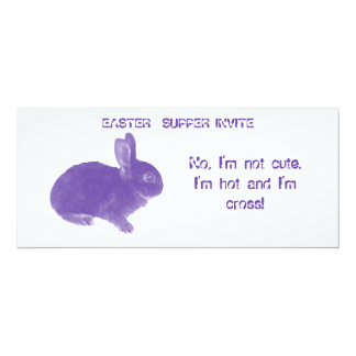 Hot Cross Bunny for Easter Card